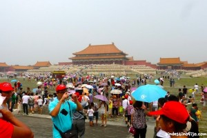 multitudes turistas en China
