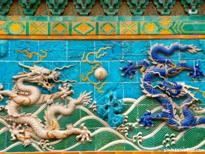 China dragon wall