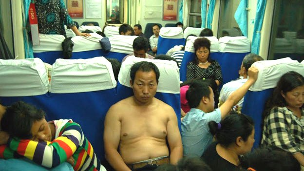tren en china asiento duro